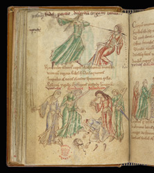 Coloured Drawings Of Death Of Discord, In Prudentius's 'Conflict Of The Soul'